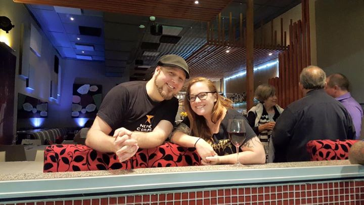 Aussie comic book legend Tom Taylor with US Comic Book pioneer Becky Cloonan.