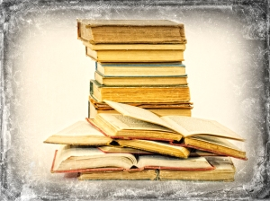 10151823 Old books vintage background