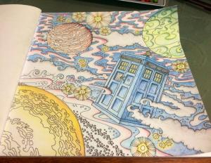 I got a Doctor Who colouring book for Christmas. I know right?