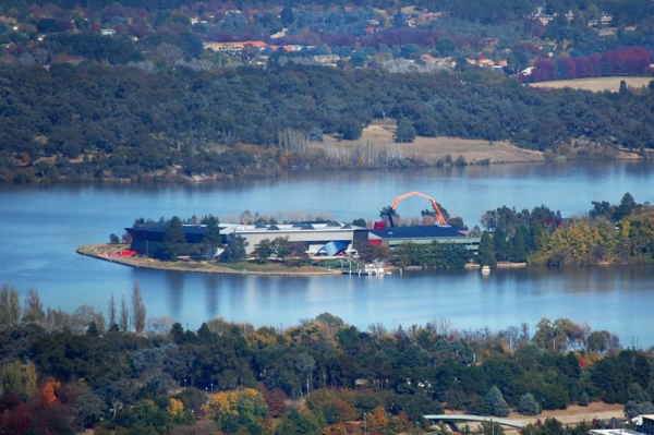 The National Museum, from Mount Ainslie. How's the serenity? (Photo credit: Cassandra Page)